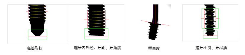光学筛选机检测的外观特征图